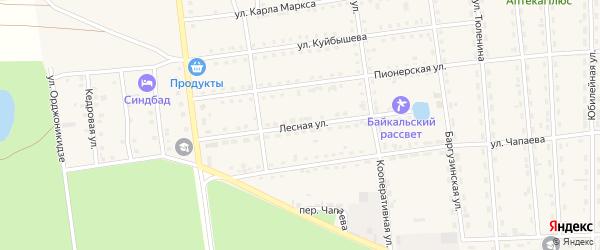Лесная улица на карте поселка Усть-баргузина с номерами домов