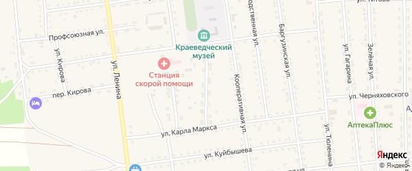 Больничный переулок на карте поселка Усть-баргузина с номерами домов