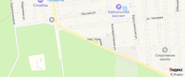Переулок Чапаева на карте поселка Усть-баргузина с номерами домов