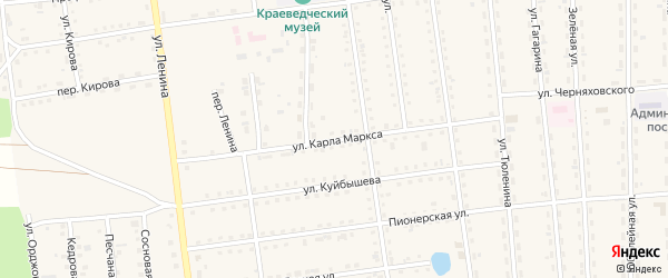 Улица Карла Маркса на карте поселка Усть-баргузина с номерами домов