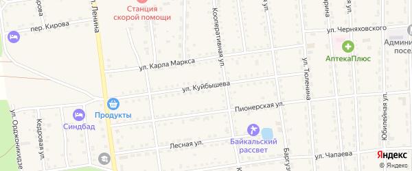 Улица Куйбышева на карте поселка Усть-баргузина с номерами домов