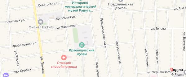Кооперативная улица на карте поселка Усть-баргузина с номерами домов