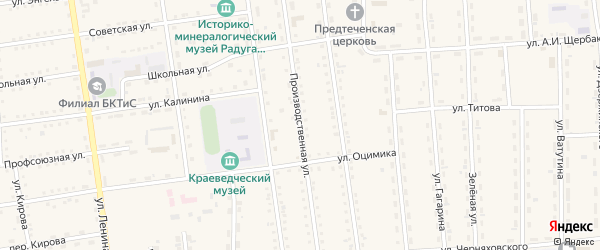 Производственная улица на карте поселка Усть-баргузина с номерами домов