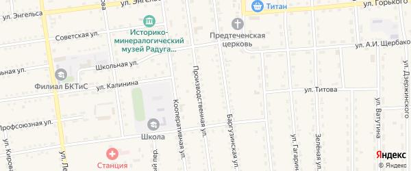 Октябрьский переулок на карте поселка Усть-баргузина с номерами домов