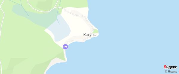 Карта села Катуня в Бурятии с улицами и номерами домов