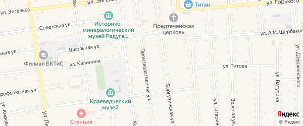 Баргузинский переулок на карте поселка Усть-баргузина с номерами домов