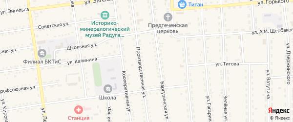 Переулок Комарова на карте поселка Усть-баргузина с номерами домов