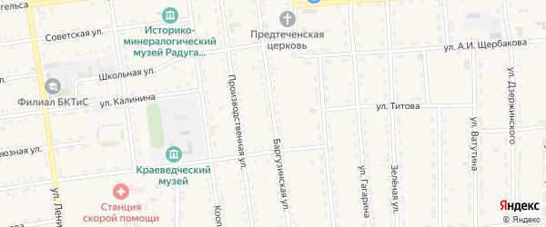 Баргузинская улица на карте поселка Усть-баргузина с номерами домов