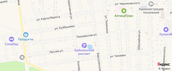 Пионерская улица на карте поселка Усть-баргузина с номерами домов