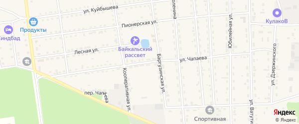 Улица Чапаева на карте поселка Усть-баргузина с номерами домов