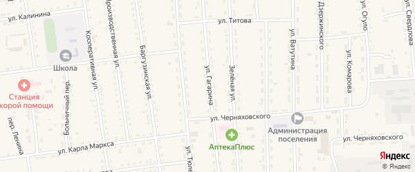 Улица Гагарина на карте поселка Усть-баргузина с номерами домов