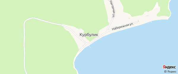 2-я Нагорная улица на карте поселка Курбулика с номерами домов