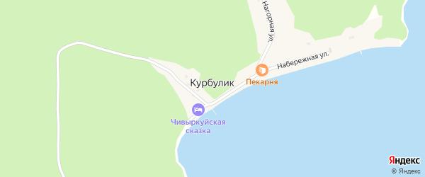 1-я Нагорная улица на карте поселка Курбулика с номерами домов