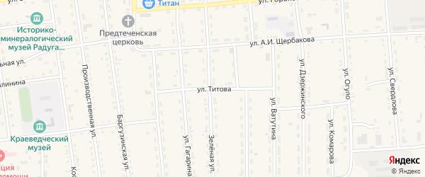 Улица Титова на карте поселка Усть-баргузина с номерами домов