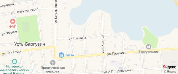 Улица Пушкина на карте поселка Усть-баргузина с номерами домов