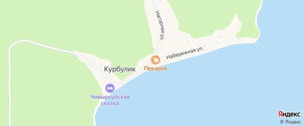 Набережная улица на карте поселка Курбулика с номерами домов