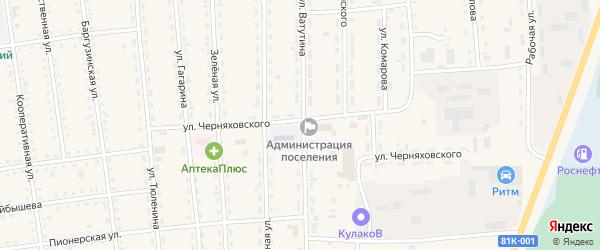 Улица Ватутина на карте поселка Усть-баргузина с номерами домов