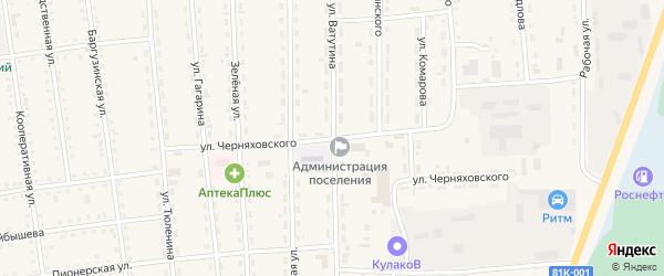 Улица Черняховского на карте поселка Усть-баргузина с номерами домов