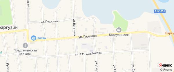 Улица Горького на карте поселка Усть-баргузина с номерами домов