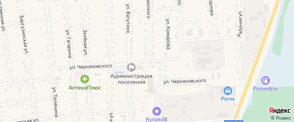 Улица Дзержинского на карте поселка Усть-баргузина с номерами домов