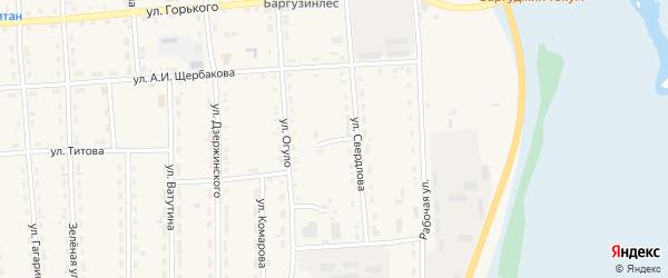 Переулок Свердлова на карте поселка Усть-баргузина с номерами домов