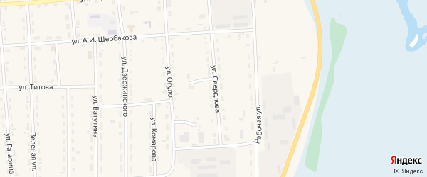 Улица Свердлова на карте поселка Усть-баргузина с номерами домов