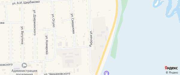 Рабочая улица на карте поселка Усть-баргузина с номерами домов
