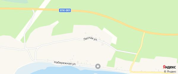 Лесная улица на карте села Макаринино с номерами домов