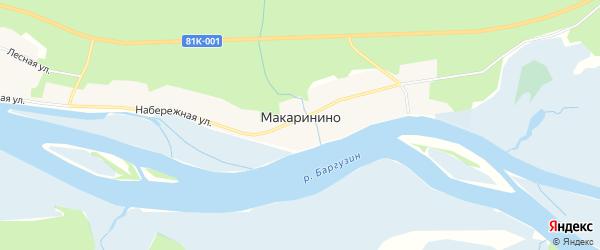 Карта села Макаринино в Бурятии с улицами и номерами домов