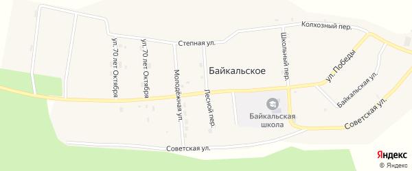 Лесной переулок на карте Байкальского села с номерами домов