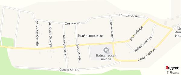 Колхозный переулок на карте Байкальского села с номерами домов