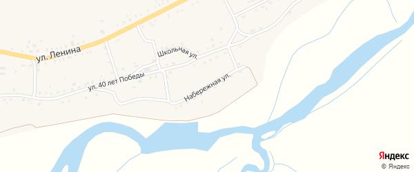 Набережная улица на карте села Удинска с номерами домов