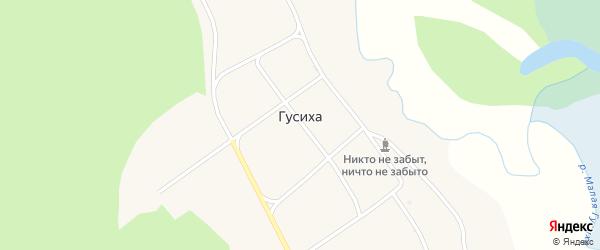 Клубная улица на карте села Гусихи с номерами домов