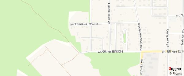 Владимирская улица на карте Северобайкальска с номерами домов