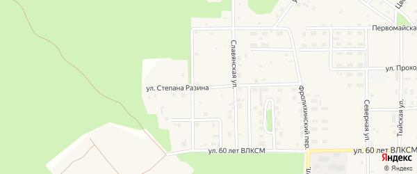 Улица Степана Разина на карте Северобайкальска с номерами домов