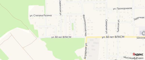 Баргузинский переулок на карте Северобайкальска с номерами домов