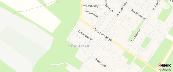 Сосновая улица на карте Северобайкальска с номерами домов