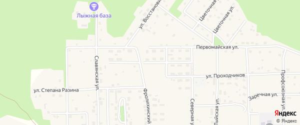 Улица Мостостроителей на карте Северобайкальска с номерами домов
