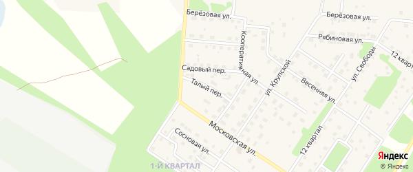 Талый переулок на карте Северобайкальска с номерами домов