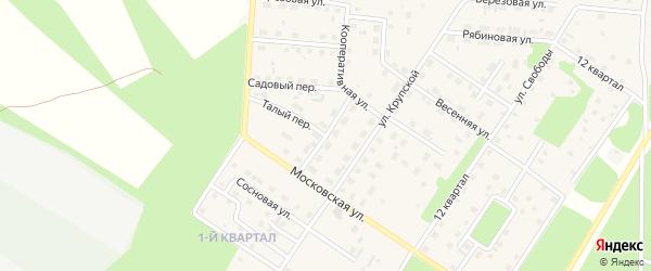 Еловый переулок на карте Северобайкальска с номерами домов