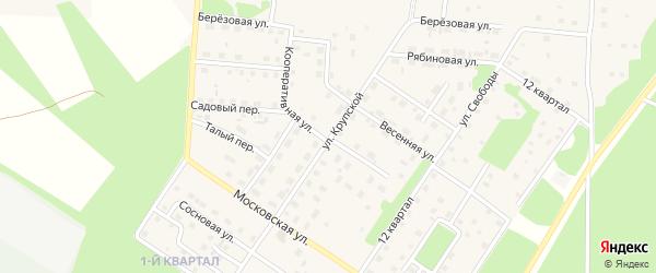 Кооперативная улица на карте Северобайкальска с номерами домов