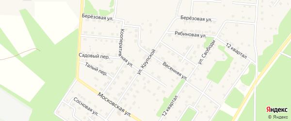 Улица им Крупской на карте Северобайкальска с номерами домов