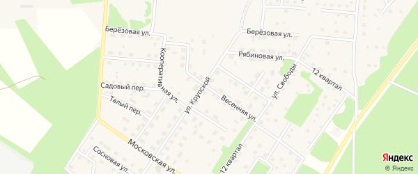 Весенняя улица на карте Северобайкальска с номерами домов