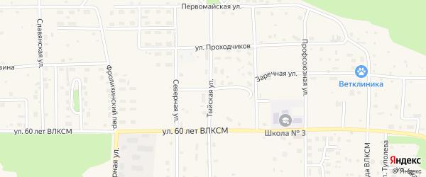 Геологическая улица на карте Северобайкальска с номерами домов