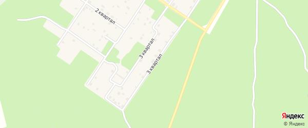 3-й квартал на карте Северобайкальска с номерами домов
