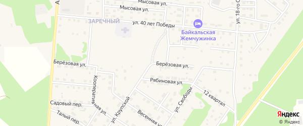 Березовая улица на карте Северобайкальска с номерами домов