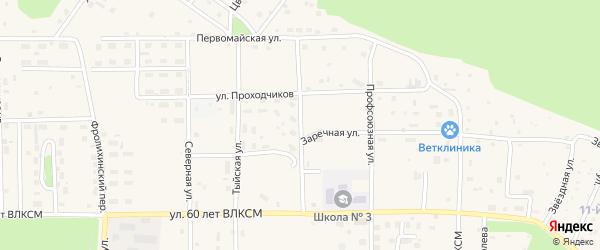 Центральная улица на карте Северобайкальска с номерами домов