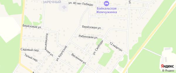 Рябиновая улица на карте Северобайкальска с номерами домов