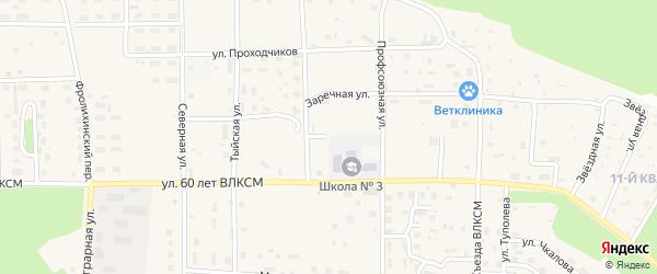 Клубный переулок на карте Северобайкальска с номерами домов