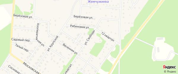 Улица Свободы на карте Северобайкальска с номерами домов